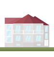 classic architecture facade of a house vector image vector image