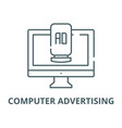 computer advertising line icon computer vector image vector image