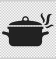 cooking pan icon in flat style kitchen pot on vector image