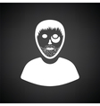 Criminal man icon vector image vector image