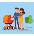 Cute smiling couple vector image vector image