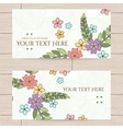 design of business cards with Japanese vector image