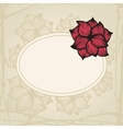 Doodling greeting card with hand drawn flowers in vector image vector image
