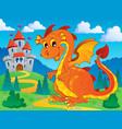 dragon theme image 9 vector image
