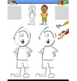 drawing and coloring activity vector image