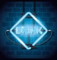drink bar neon label vector image