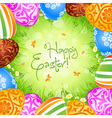 Easter Eggs and Grass vector image vector image