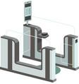 electronic access control system e-gates vector image