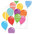festive holiday template with colorful balloons vector image