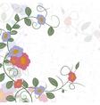 Flowers frame corner vector image vector image