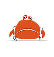 funny crab sketch for your design vector image vector image