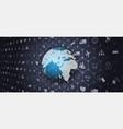 global world telecommunication network vector image vector image