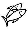 greek sea fish icon outline style vector image vector image