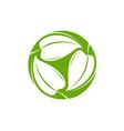 green leaves logo natural or organic symbol vector image vector image
