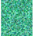 Green triangle mosaic background design vector image vector image
