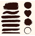 grunge set paint stains jpeg version also vector image