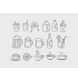 hand drawn doodle style elements isolated vector image vector image