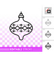 hanging ball simple black line icon vector image vector image