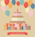 Happy Birthday Vintage Greeting Card vector image vector image