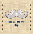 happy fathers day greeting card typography vector image