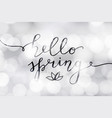 hello spring lettering vector image vector image