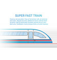high speed modern rail train concept vector image vector image