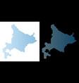 hokkaido island map hexagon abstraction vector image vector image