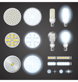 Led Lamps And Lights Effects Set vector image vector image
