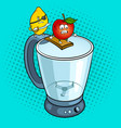 lemon pirate and apple pop art vector image vector image