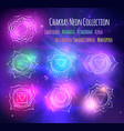 line art chakras on outer space background vector image vector image
