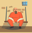 man in prison bandit arrested and locked vector image vector image