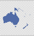 map of oceania on isolated background flat vector image vector image