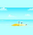 maritime seascape navy design with seagulls birds vector image vector image