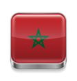 Metal icon of Morocco vector image vector image