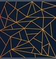 modern geometric mosaic wallpaper gold and navy vector image vector image