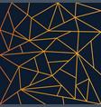 Modern geometric mosaic wallpaper gold and navy
