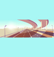 modern metropolis speed highway cartoon vector image