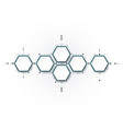 molecule integrated hexagon background vector image vector image