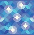 mosaic of circles semi cirlce elements geometric vector image vector image