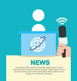 news communication related vector image vector image