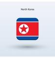 North Korea flag icon vector image vector image