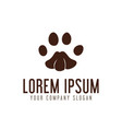 paw logo design concept template vector image vector image