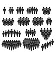 people crowd icons large group people team of vector image