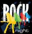rock night poster vector image vector image
