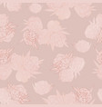 rose gold floral seamless pattern vector image vector image