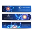 Scientific and technological banners vector image vector image