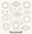 set line design emblem sign and hipster labels vector image vector image
