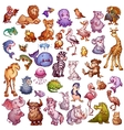 set of cute animals for pets alphabet Lion vector image