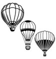 set of of air balloons design element for logo vector image vector image