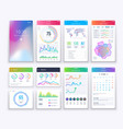 smartphone ui mobile graphic ui and ux vector image